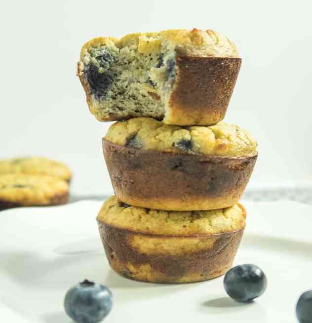 Coconut Flour Blueberry Muffins