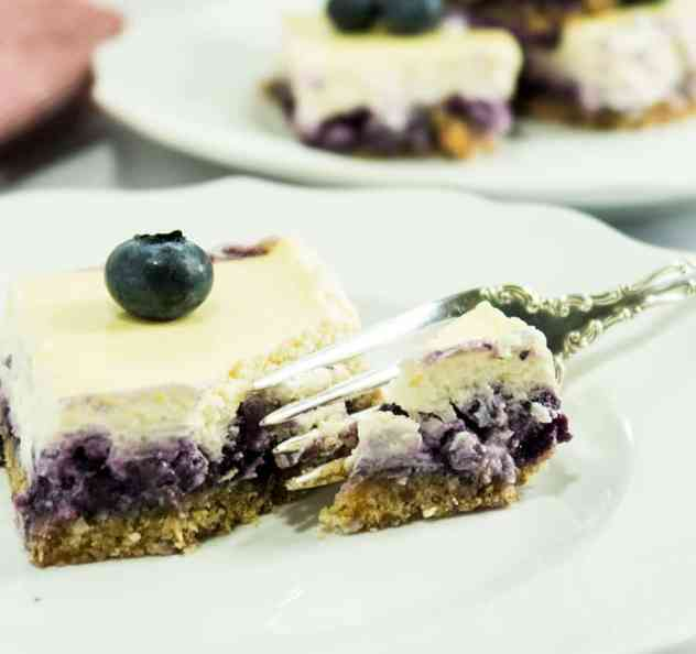 Healthy Blueberry Cheesecake Squares