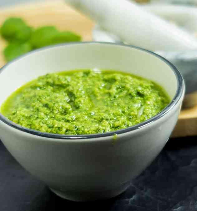 Five Ingredient Basil Cashew Pesto