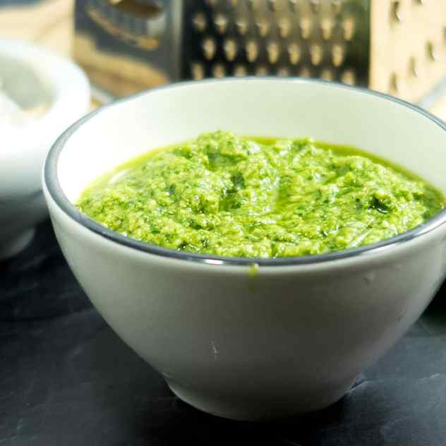 Five Ingredient Basil Cashew Pesto