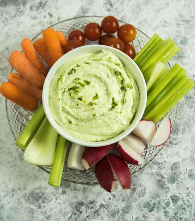Whipped Feta Cheese Pesto Dip