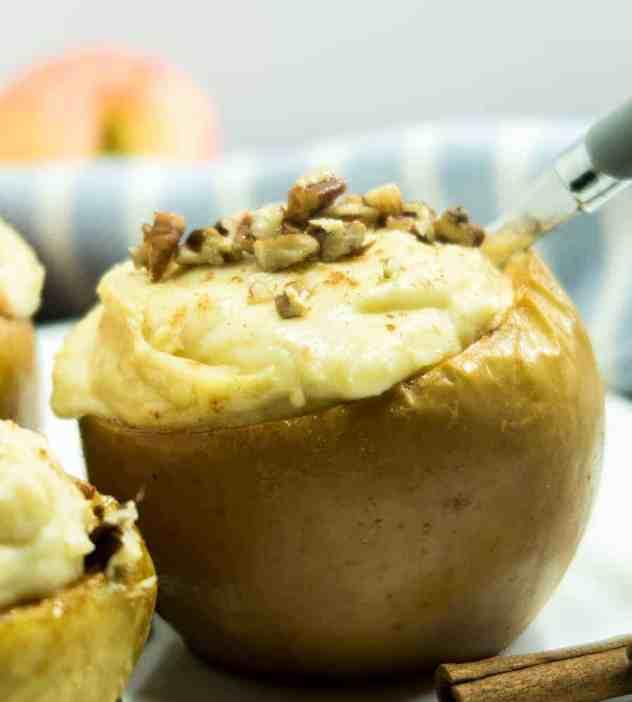 Easy Baked Cheesecake Stuffed Apples