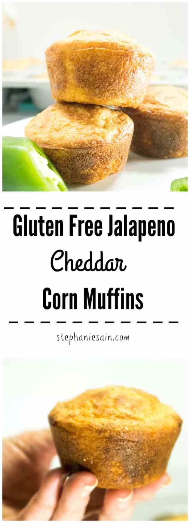 Gluten Free Jalapeno Cheddar Corn Muffins are a great addition with soups, stews, & chili. Also make a perfect snack that packs well for lunches.