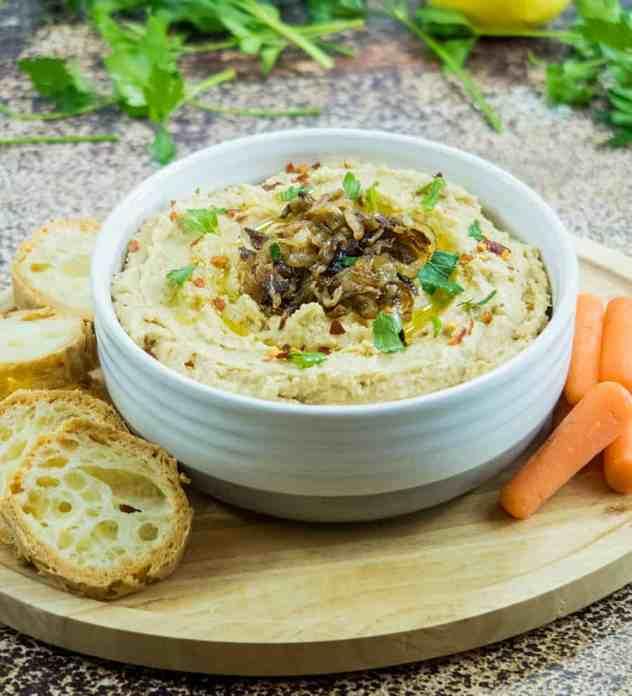 Balsamic Caramelized Onion Hummus