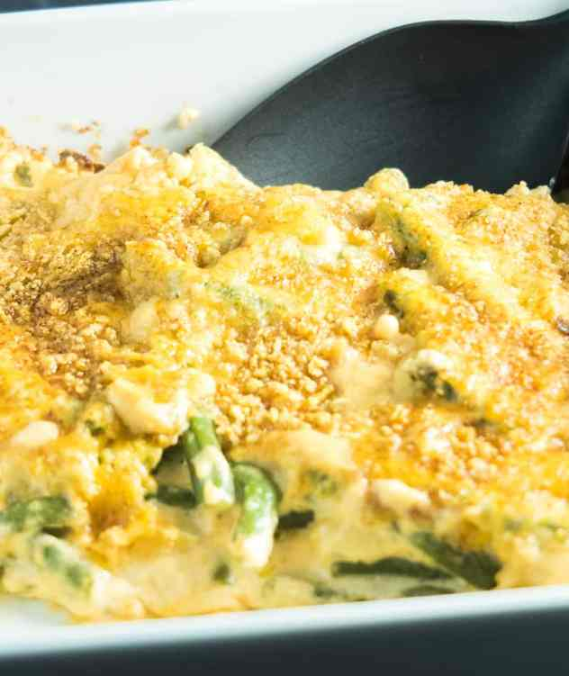Cheesy Green Beans Au Grain Bake