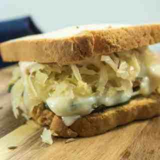 Zucchini Reuben Style Sandwich (Vegetarian)