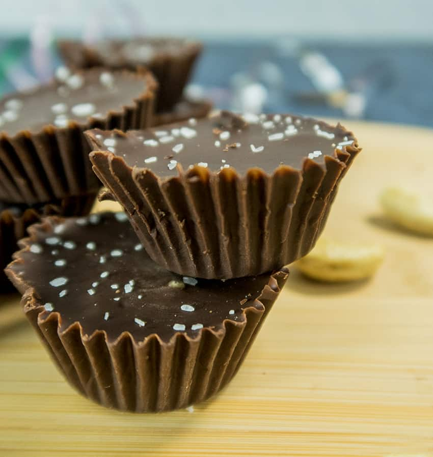 Mini Dark Chocolate Cashew Nut Butter Cups