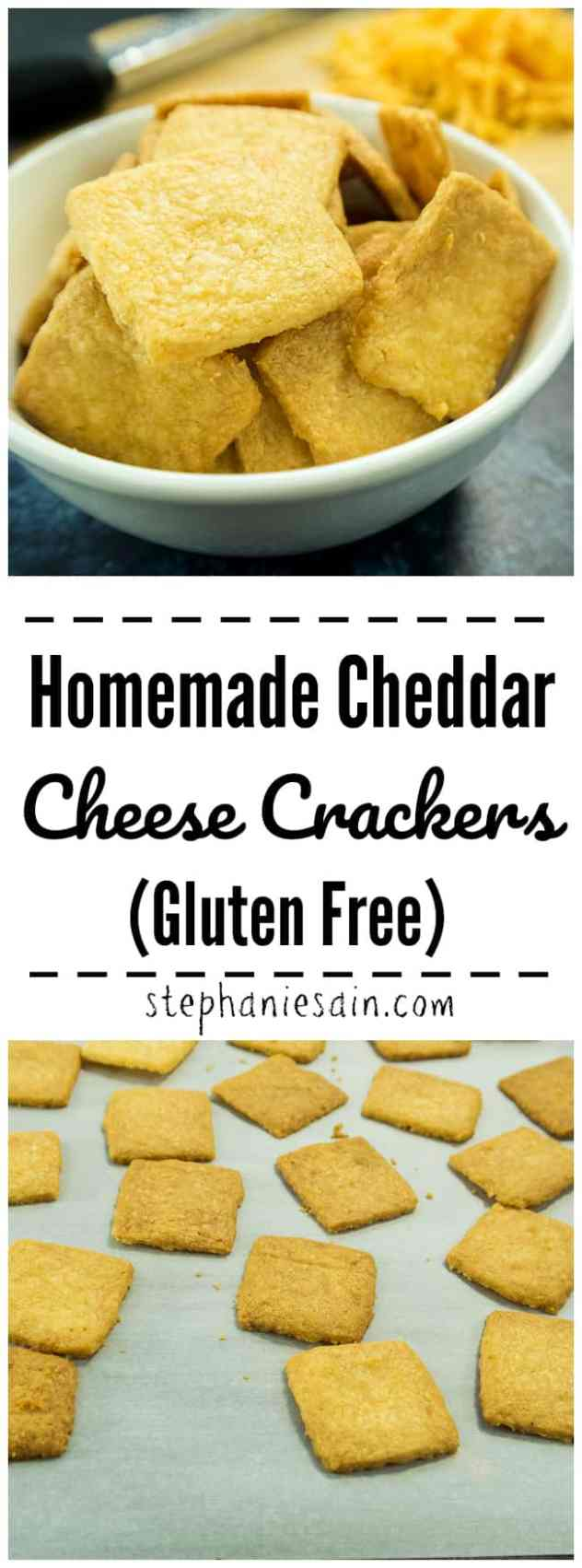 These Homemade Cheddar Cheese Crackers require only 5 ingredients & 10-12 minutes to bake. For a healthier, lower carb snack cracker perfect for any occasion. Gluten Free, Low carb.