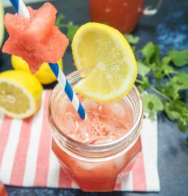 Watermelon Lemonade (Refined Sugar-Free)