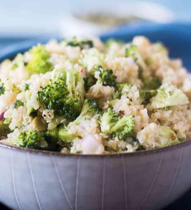 Broccoli Quinoa Salad in a bowl.