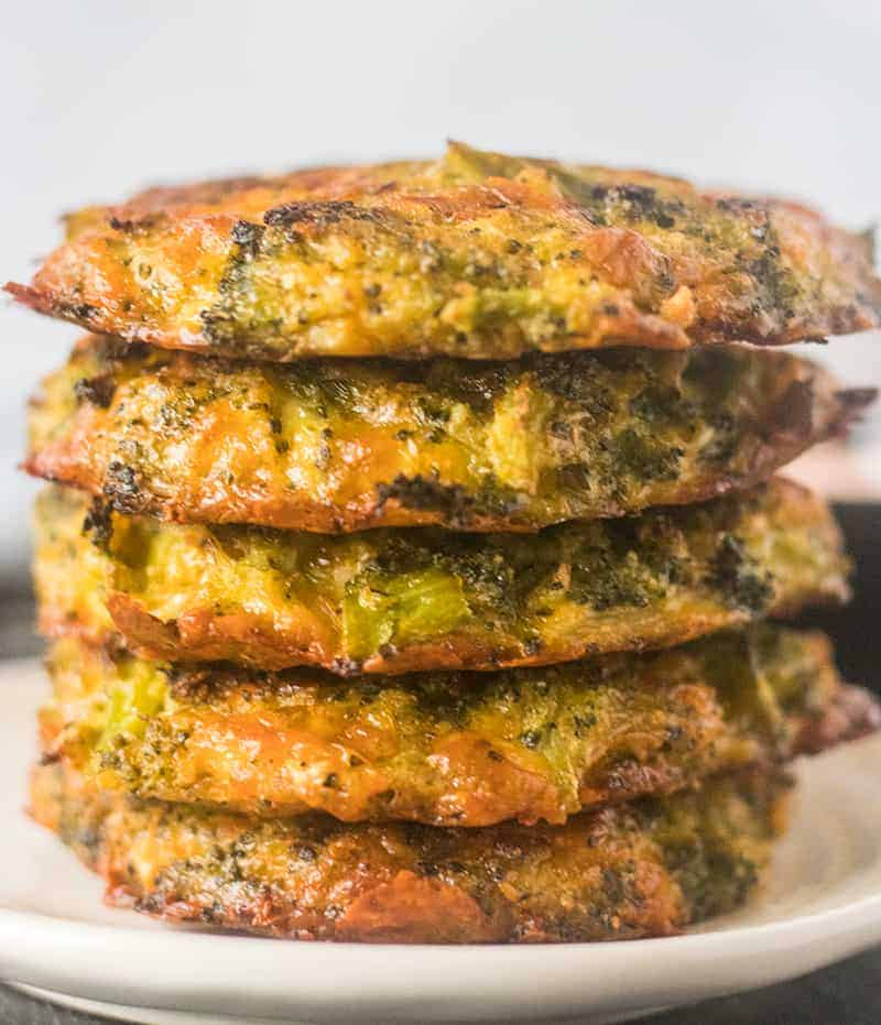 Cheesy Baked Broccoli Fritters (Gluten Free, Low Carb)