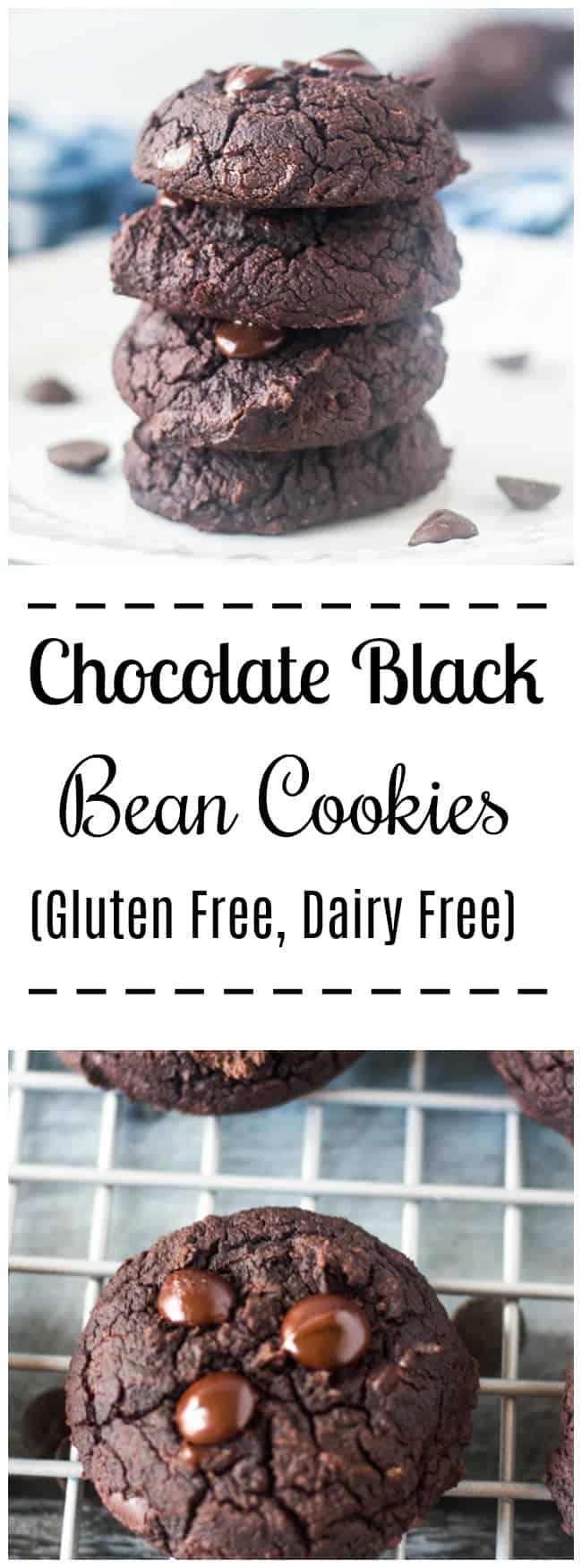 These Chocolate Black Bean Cookies are super easy to make in one bowl and in under 20 minutes. Rich, decadent healthy cookies made with black beans. Gluten Free, Dairy Free, Easy. Kid friendly and great for breakfast, snacks or dessert.