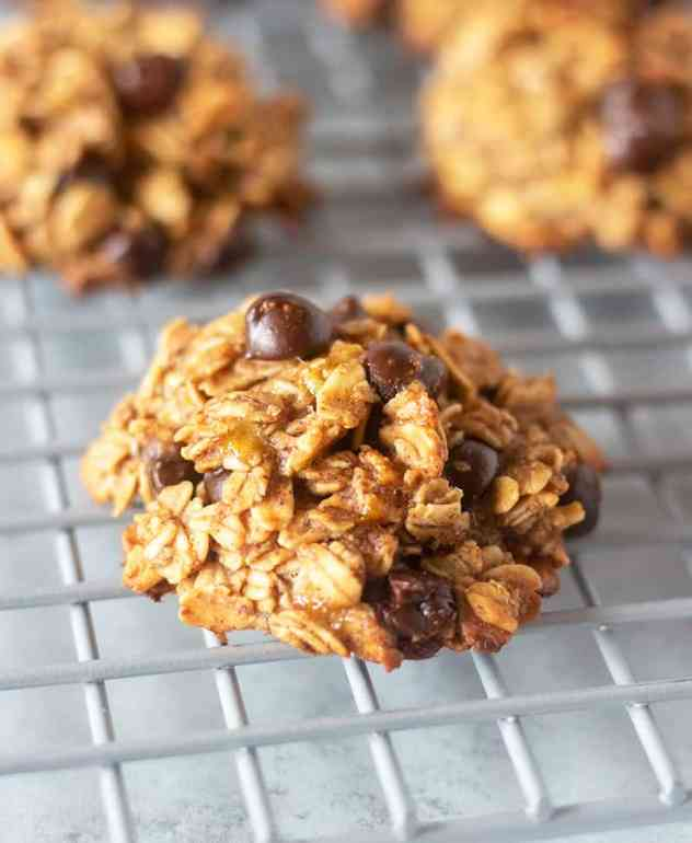 breakfast cookies on wire cooling wrack