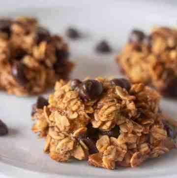Breakfast Cookies on a white plate