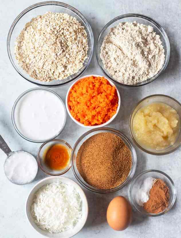 ingredients in carrot cake cookies