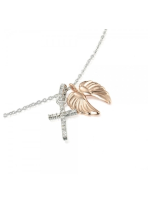 cross and wings pendant