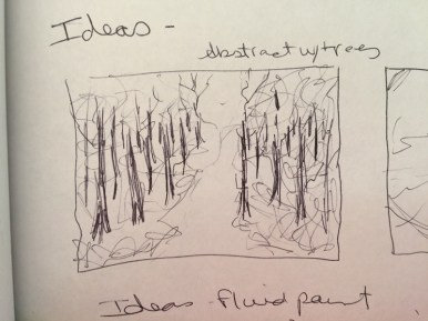 This is a thumbnail sketch. Very small, but gives me the information I want to remember.