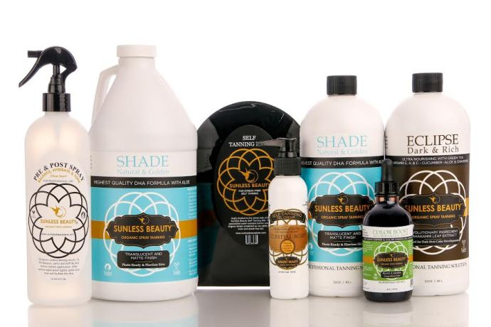 Sunless Beauty Organic and All Natural Spray TanProduct Line
