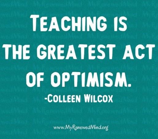 Optimism&Teaching