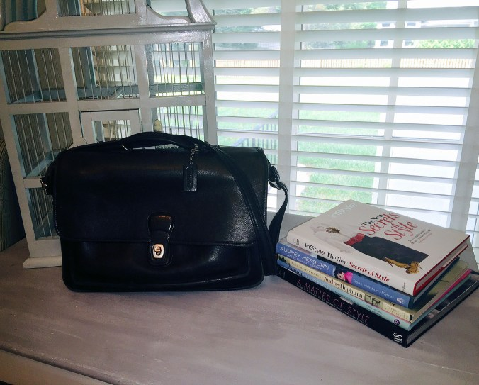 My Coach briefcase...still looking good after all these years.