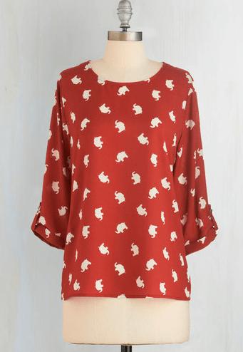 Elephant Shirt, Modcloth, $39.99