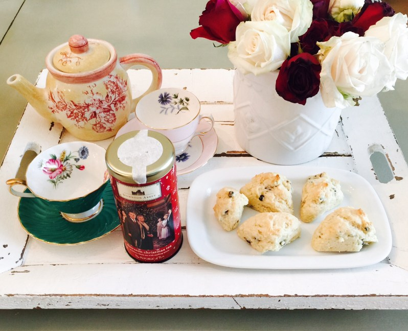 Made scones last night, have the Downton Abbey tea, and will stop and smell the roses one last time this evening. Sadness.