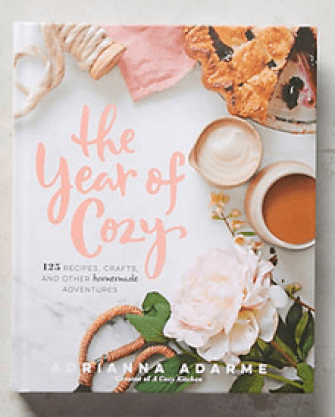 The Year of Cozy book from Anthropologie, $24.99.