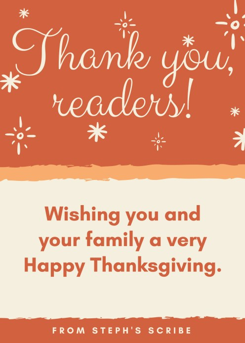 Thank you, readers!
