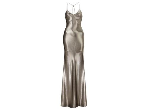 Get the look... DON'T WEAR: a see-through dress with no bra - you're not actually Kate Moss in the 90s. DO WEAR: this incredible silver look-a-like gown from Kate's new collection for Topshop. Kate Moss for Topshop dress, price TBC, available 30 April