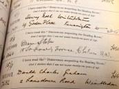 Bram Stoker's entry in the British Museum's reading room ledger