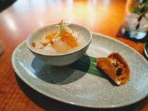 Bangkok (Nahm): dessert of lychee and kanom buang