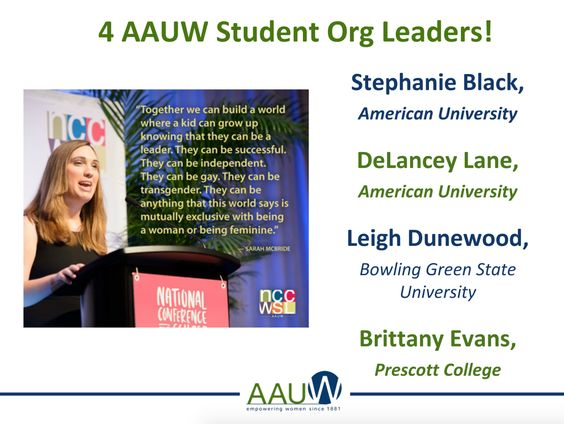 Webinar: Participated in AAUW's student leader webinar