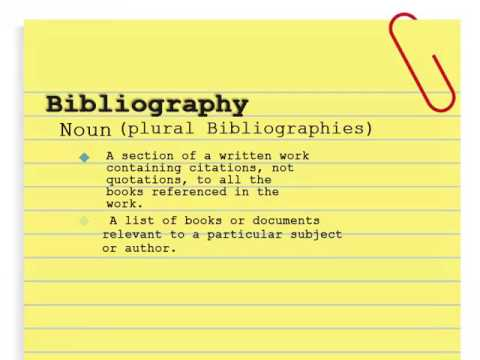 Annotated bibliography (in progress)