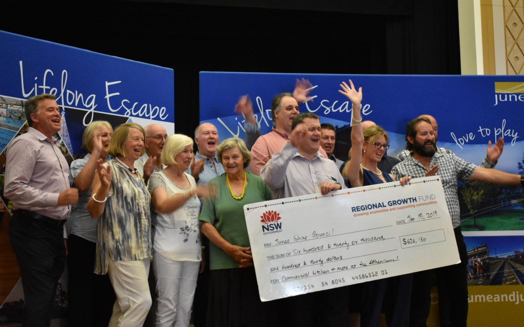 Cooking up a dream with over $626,000 for the Junee Athenium