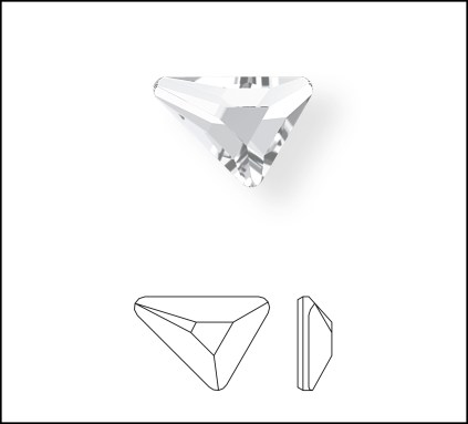 2739 Swarovski Triangle Beta Flat Back