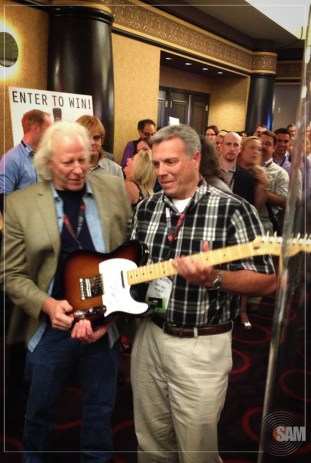 Guitar Giveaway–Congrats to Sam Day from WFNA who won the Neil Young Signed Tele!