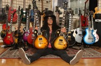 Slash with his Custom series Les Paul Guitars
