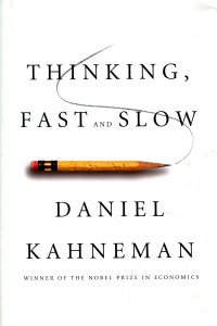 The cover of Kahneman's Thinking, Fast and Slow