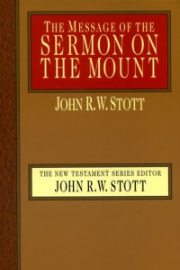The cover of Stott's The Message of the Sermon on the Mount