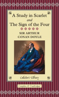 The cover of Doyle's A Study in Scarlet and The Sign of the Four