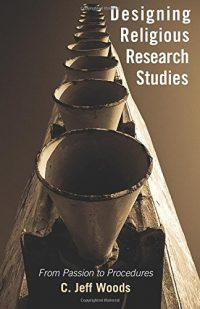 The cover of Woods' Designing Religious Research Studies