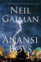 The cover of Neil Gaiman's Anansi Boys