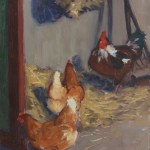 Chickens in the stable