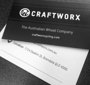Double Sided Business Card - Simple & Clean. Designed for Craftworx Cycling.