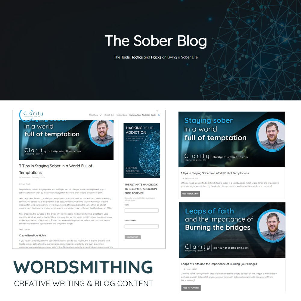Stephen Brumwell Web & Graphics   Wordsmithing - Content Creation Blogging and Creative Writing