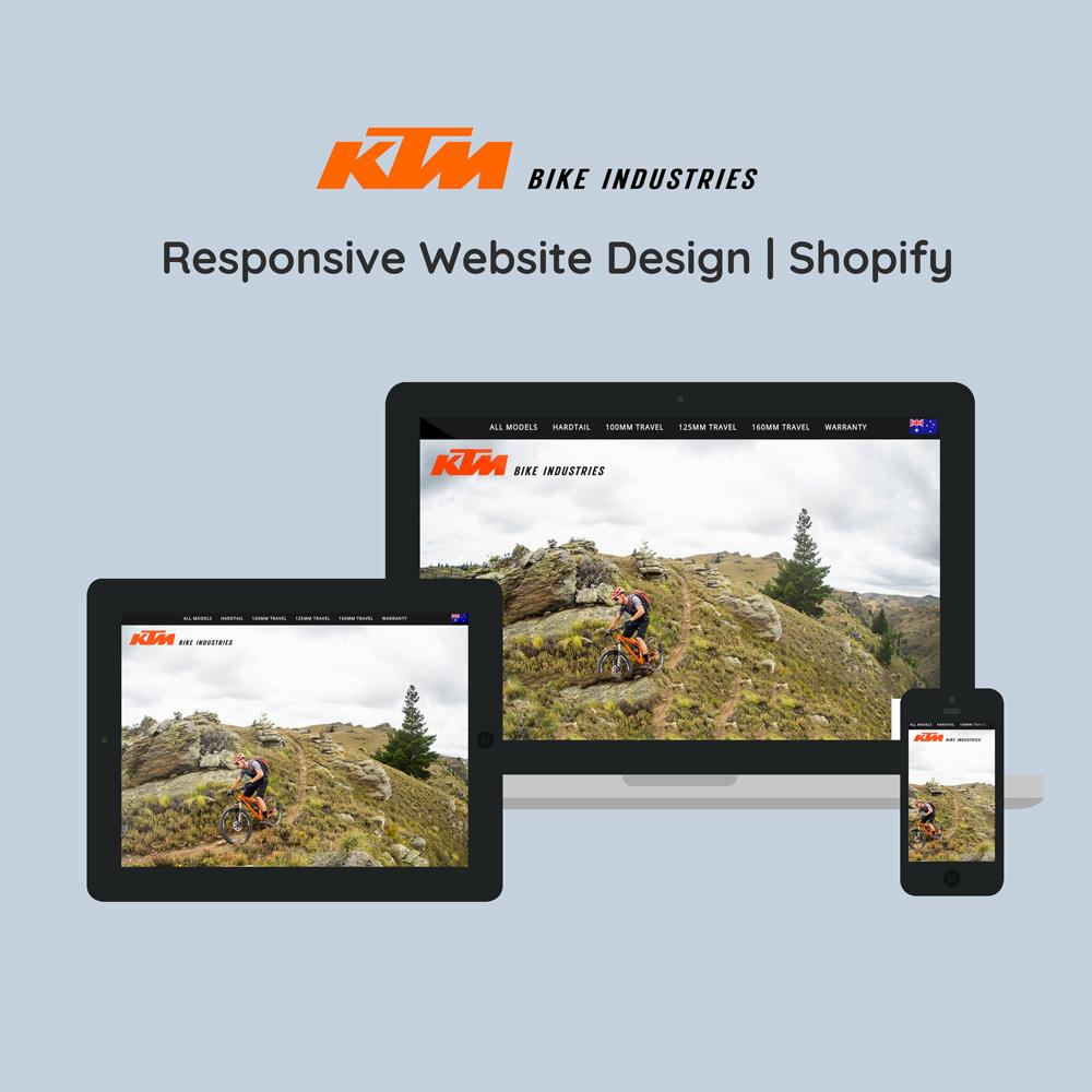 Stephen Brumwell Website & Graphic Design   Responsive Website Design for KTM Bike Industries Australia