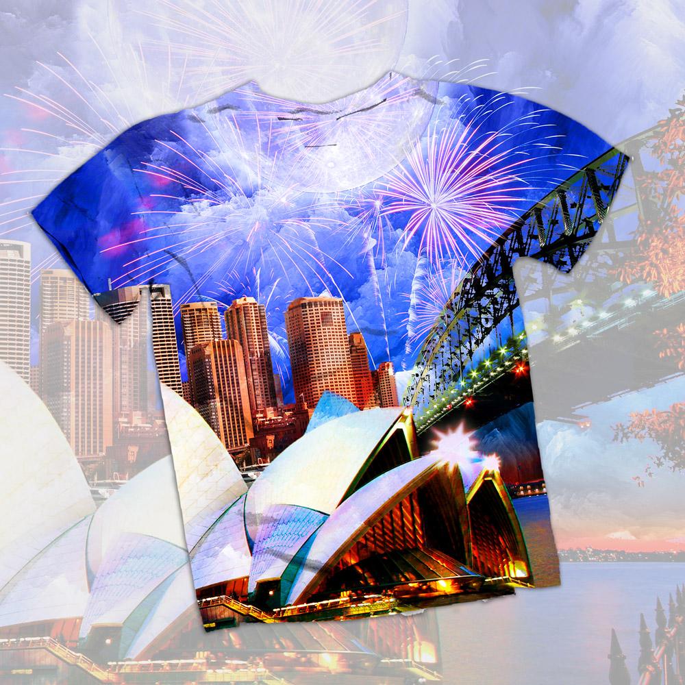 Stephen Brumwell Web & Graphics   Sydney T-Shirt Print Design