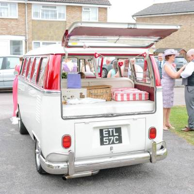Norfolk wedding photographer – VW camper van wedding car