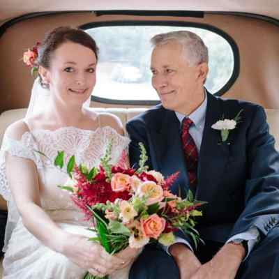 Norfolk wedding photographer – bride and father of bride