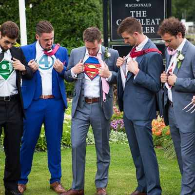 Norfolk wedding photographer – ushers superhero